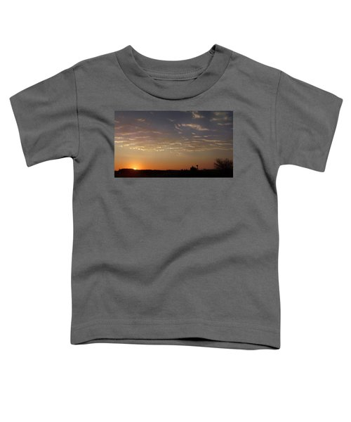 Sunrise With Windmill Toddler T-Shirt