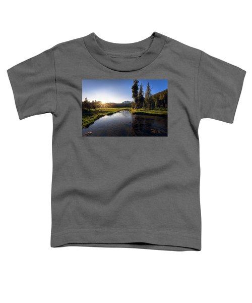 Sunset At Kings Creek In Lassen Volcanic National Toddler T-Shirt