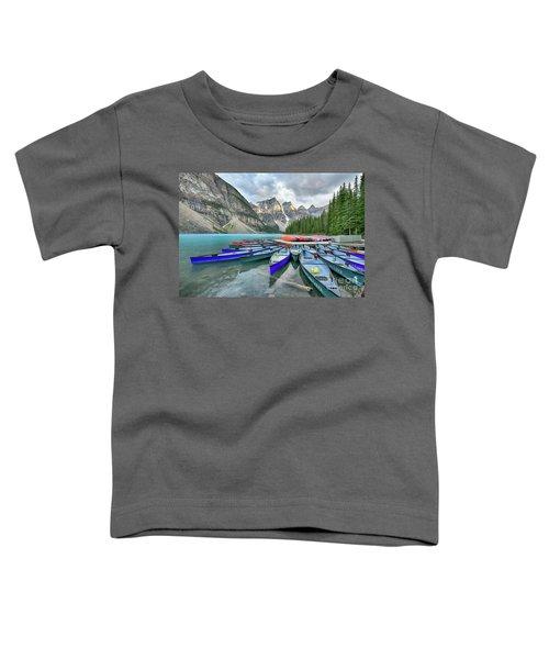 Sunset At Moraine Lake Toddler T-Shirt
