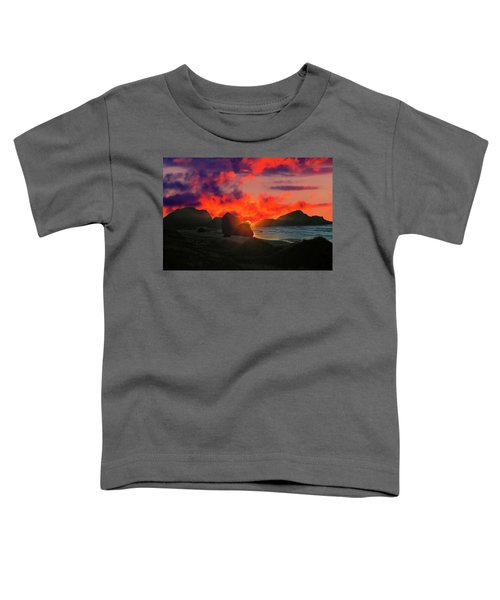 Sunset At Oregon Beach Toddler T-Shirt