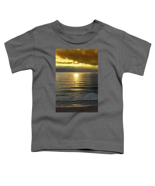 Sunset At Praia Pequena, Small Beach In Sintra Portugal Toddler T-Shirt