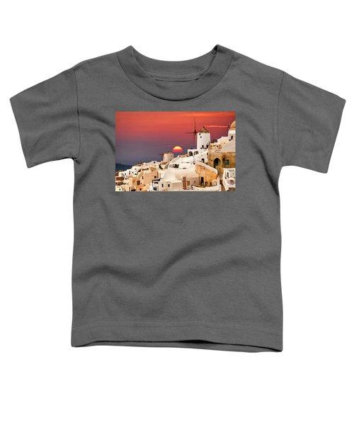 sunset at Santorini Toddler T-Shirt