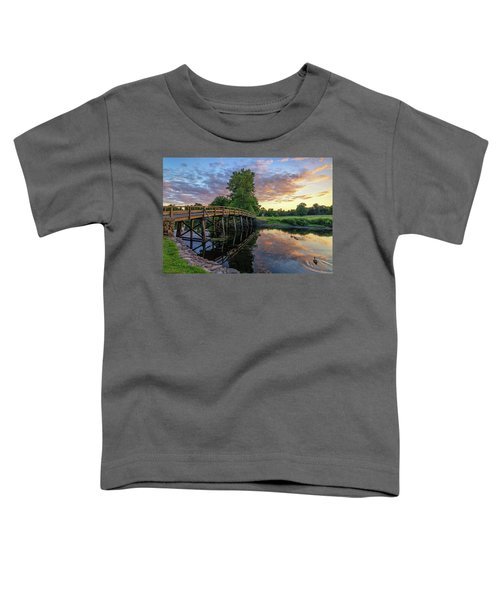 Sunset At The Old North Bridge Toddler T-Shirt