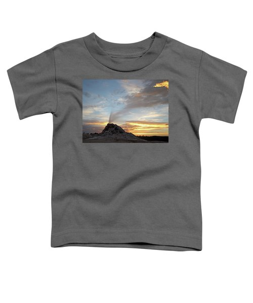 Sunset At White Dome Geyser Toddler T-Shirt
