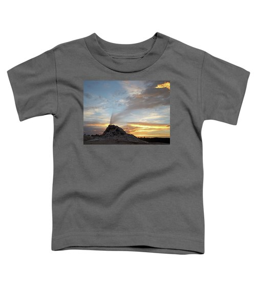 Sunset At White Dome Geyser Toddler T-Shirt