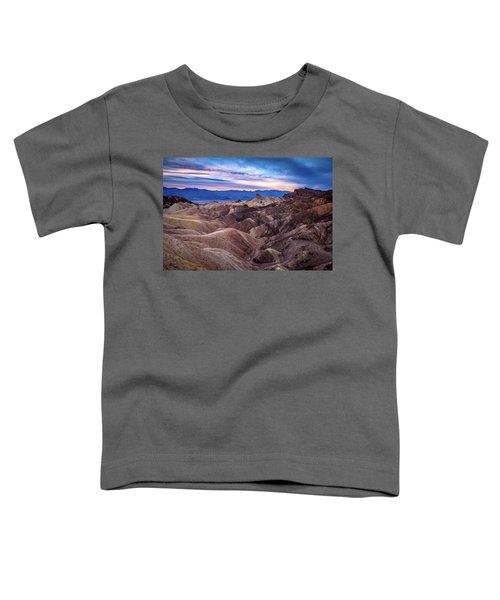 Sunset At Zabriskie Point In Death Valley National Park Toddler T-Shirt