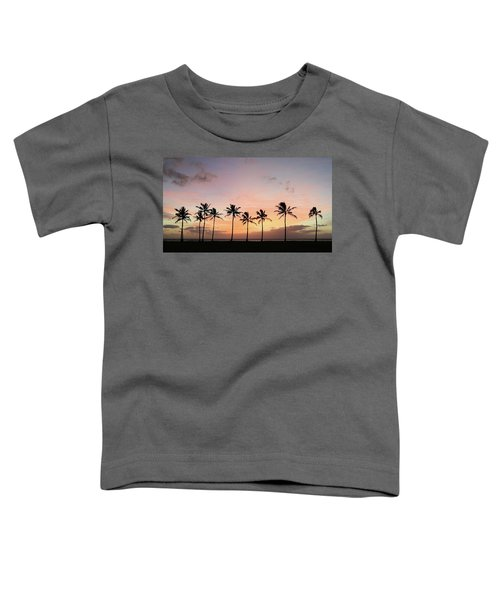 Sunset Behind The Palms Toddler T-Shirt