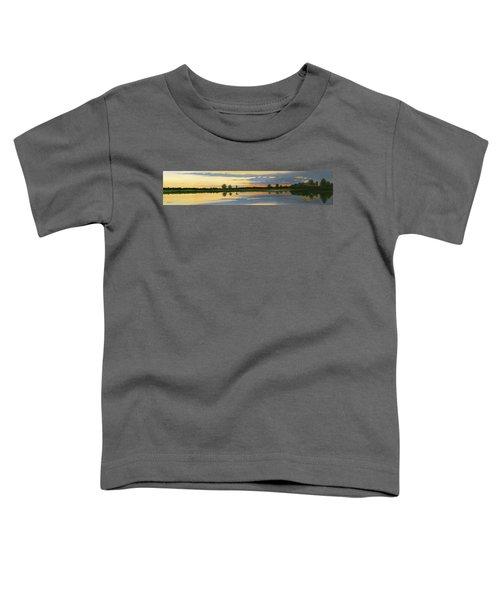 Sunset Ben Jack Pond Toddler T-Shirt