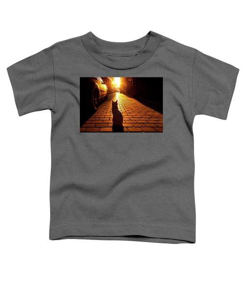 Sunset Cat Toddler T-Shirt