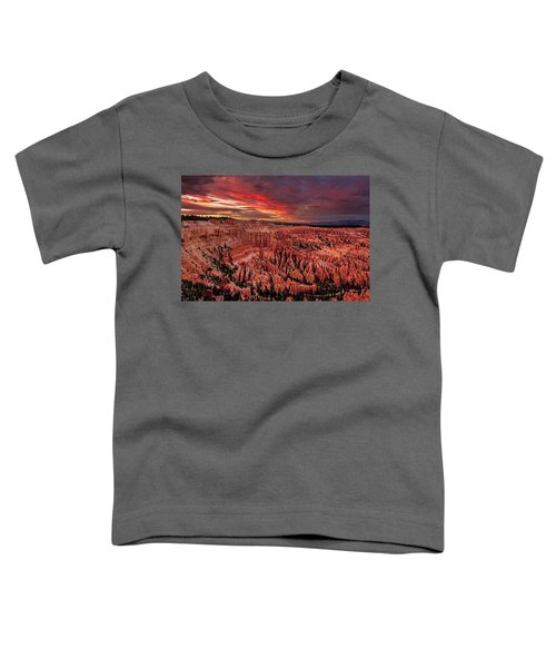 Sunset Clouds Over Bryce Canyon Toddler T-Shirt