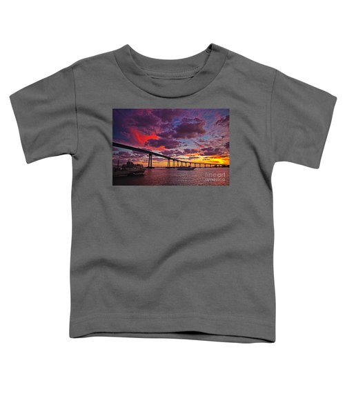 Sunset Crossing At The Coronado Bridge Toddler T-Shirt
