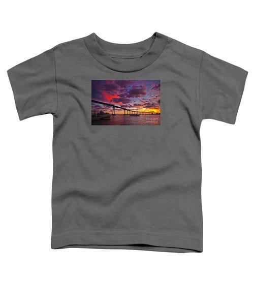 Sunset Crossing At The Coronado Bridge Toddler T-Shirt