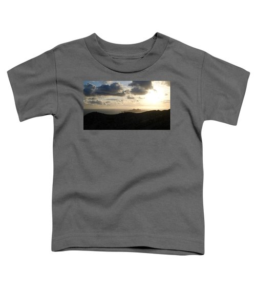 Sunset Dragon Island Toddler T-Shirt