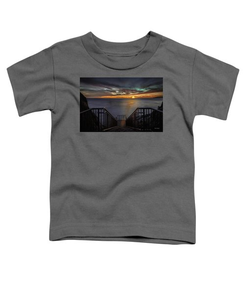 Sunset From Sandpiper Staircase Toddler T-Shirt