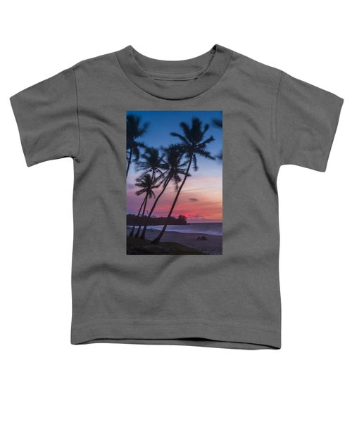 Sunset In Paradise Toddler T-Shirt by Alex Lapidus