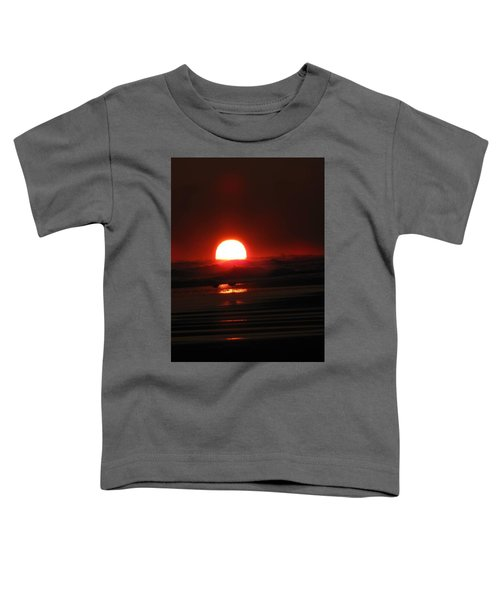 Sunset In The Waves Toddler T-Shirt