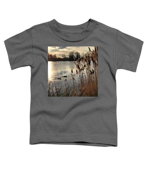 Sunset Lake  Toddler T-Shirt by Kathy Spall