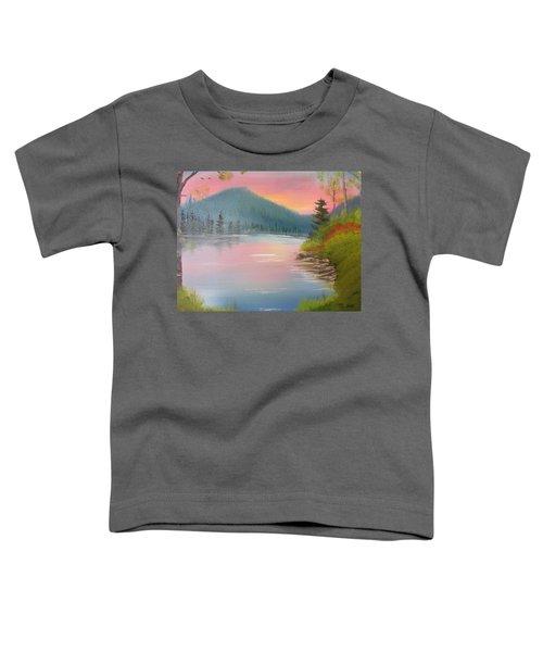 Sunset Lake Toddler T-Shirt