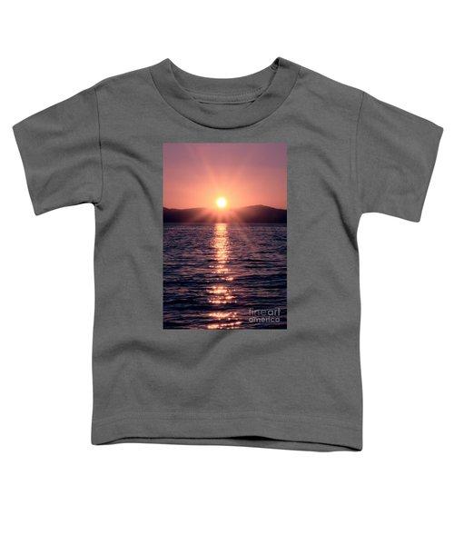 Sunset Lake Verticle Toddler T-Shirt