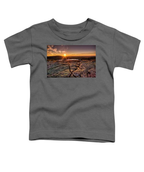 Sunset On Cadillac Mountain Toddler T-Shirt