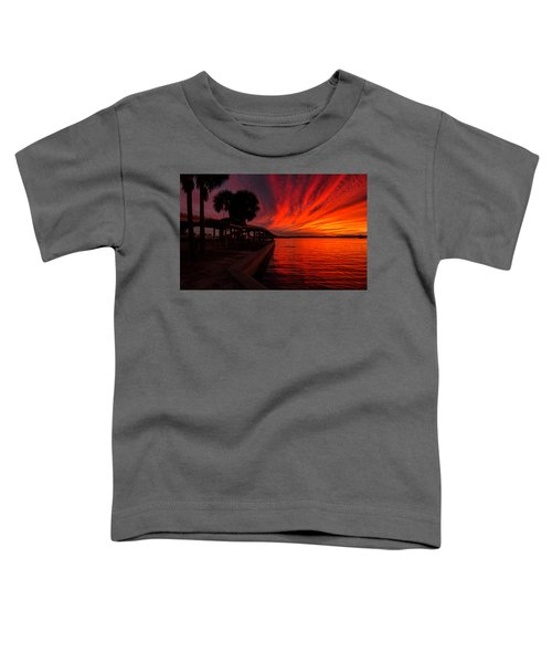 Sunset On Fire Toddler T-Shirt