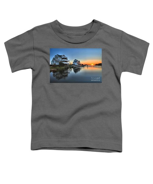 Sunset On The Obx Sound Toddler T-Shirt