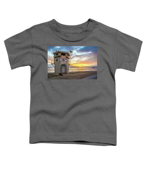 Sunset Over Laguna Beach Lifeguard Station Toddler T-Shirt
