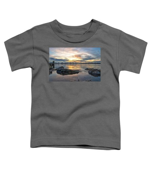 Sunset Over Lake Kralingen  Toddler T-Shirt