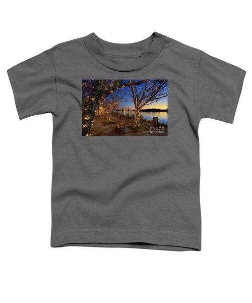Sunset Over The Wilmington Waterfront In North Carolina, Usa Toddler T-Shirt