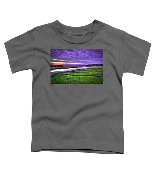 Sunset Over Turners Creek Savannah Tybee Island Ga Toddler T-Shirt