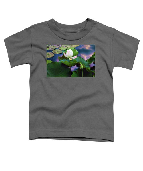 Sunset Pond Lotus Toddler T-Shirt