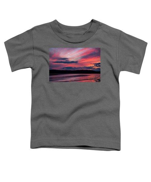 Sunset Red Lake Toddler T-Shirt