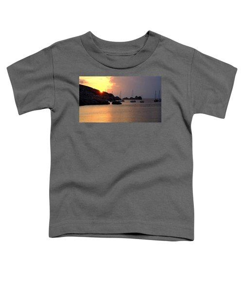Sunset Sailing Boats Toddler T-Shirt