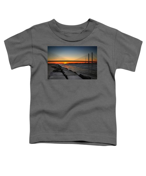 Sunset Under The Indian River Inlet Bridge Toddler T-Shirt