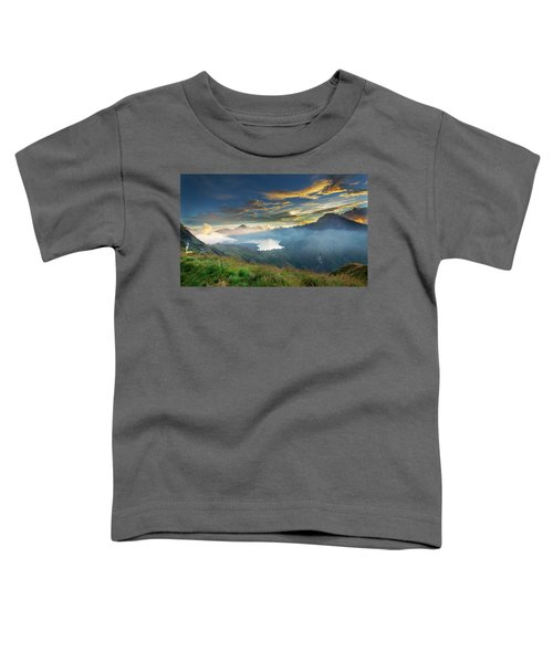 Sunset View From Mt Rinjani Crater Toddler T-Shirt