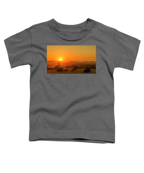 Sunset View Of Bagan Pagoda Toddler T-Shirt