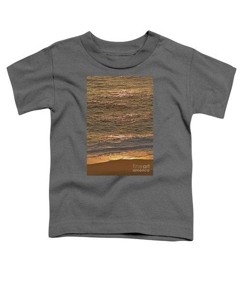 Sunset Waves Over Carmel Beach Toddler T-Shirt