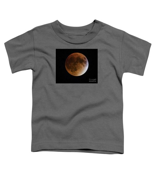 Super Blood Moon Lunar Eclipses Toddler T-Shirt by Ricky L Jones