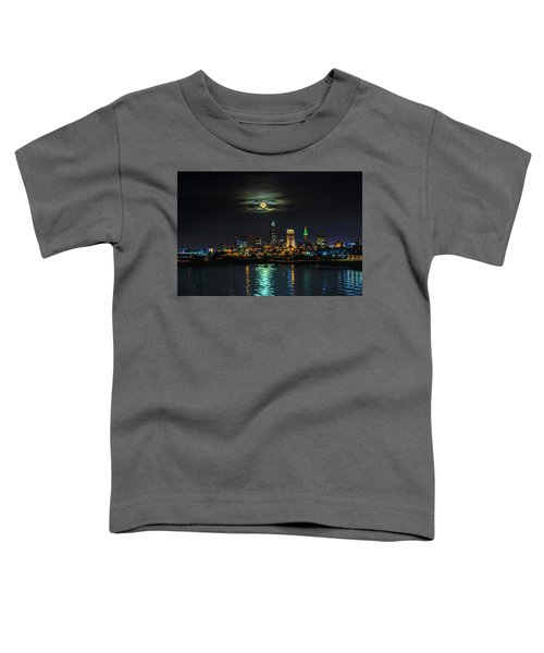 Super Full Moon Over Cleveland Toddler T-Shirt