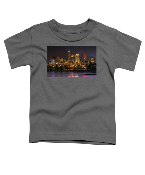 Super Moon 2016 Over Cleveland Toddler T-Shirt