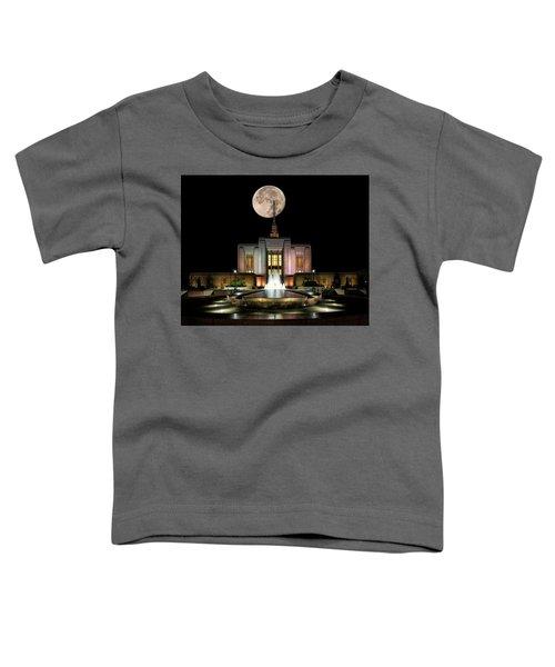 Super Moon At Ogden Lds Temple Toddler T-Shirt
