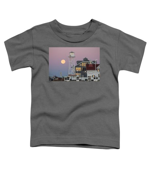 Super Wolf Moon At The Watch Tower Toddler T-Shirt