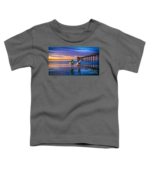Surfers At Scripps Pier In La Jolla California Toddler T-Shirt