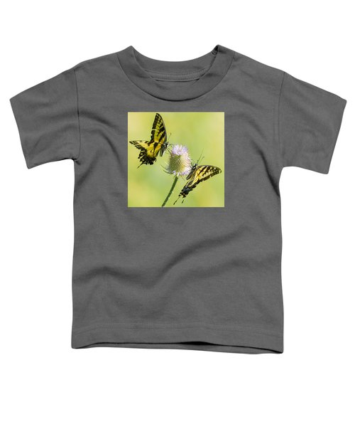 Swallowtails On Thistle  Toddler T-Shirt