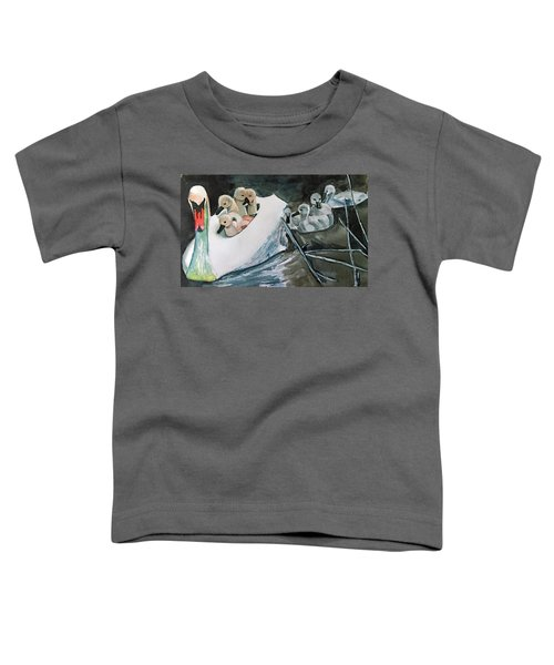 Swan And Cygnets Toddler T-Shirt
