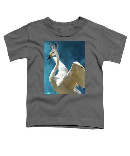 Swan Bunny Toddler T-Shirt