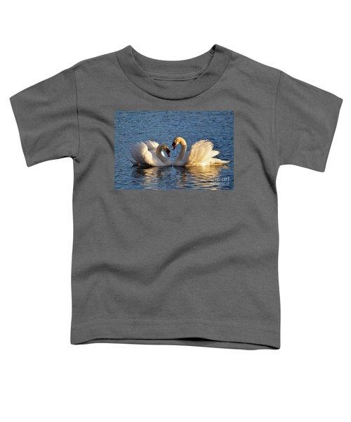 Swan Heart Toddler T-Shirt
