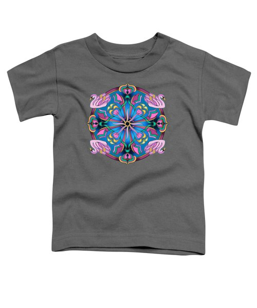 Swans Of Pink Toddler T-Shirt by Mickey Flodin