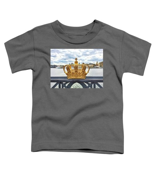 Swedish Royal Crown On A Bridge In Stockholm Toddler T-Shirt