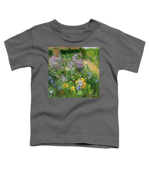 Sweet Rocket - Foxgloves And Irises Toddler T-Shirt